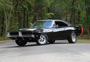 1969 Black Dodge Charger
